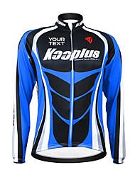 KOOPLUS Vélo/Cyclisme Maillot / Personnalisée Femme / Homme / Unisexe Manches longues Zip étanche / Vestimentaire / Pare-vent Polyester