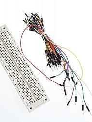 syb-120 protoboard y cable jumper protoboard hilos 65pcs