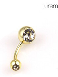 Lureme®Gold Plated Stainless Steel Navel/Ear Piercing