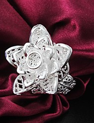 Fashion Hollow Out Flower Shape Statement Ring (1 pc)