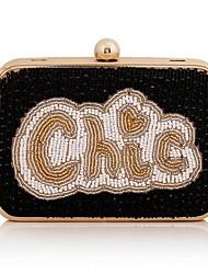Women's Fashion Beaded Letters Handbag