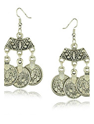 Retro Vintage Alloy Coin Earrings for Women