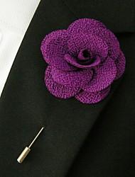 main polyester fleurs pourpres de revers boutonnière pour hommes