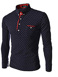 New Year Sale Polka Dots Fitted Polo Shirt