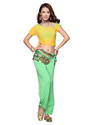 Belly Dance Dancewear Women's Modal&Velvet Tassels Outfits Including Top, Bottom, Belt, Gallus