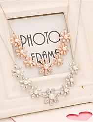 W.xiang Women's Fashion Fsahion Flower Necklace