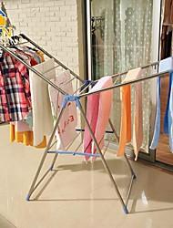byn acier inoxydable vêtements pliable étendoir, 160 * 64 * 99cm