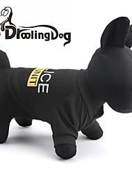 Коты / Собаки Футболка Черный Одежда для собак Весна/осень Буквы и цифры / Полиция/армия