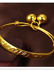 Fine Grain 24 K Gold Plating and Children's Bell Bracelet
