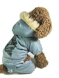 Hunde / Katzen - Winter - Baumwolle Blau / Grau - Mäntel - S / M / L / XL
