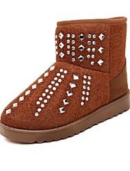 botas de los zapatos de nieve de las mujeres del dedo del pie redondo botines con tacón bajo más colores disponibles