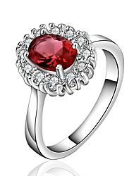 Muse Damen Mode 925 Silber Edelstein-Ring