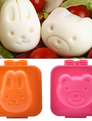 NEJE Cute Rabbit & Bear Egg Sushi Rice Mold