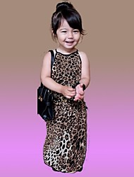 Girl's Leopard Dress,Cotton Summer
