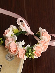 Wedding Flowers Round Roses Wrist Corsages Wedding / Party/ Evening Satin / Paper