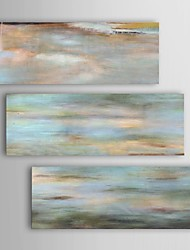 Oil Painting Modern Abstract Uttermost Horizon View Set of 3 Hand Painted Canvas with Stretched Frame