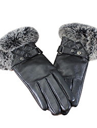 Fashion Women's Rex Rabbit Fur&Lambskin Leather Gloves(More Colors)