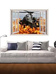 Adesivos de parede adesivos de parede 3d, helicópteros de parede decoração de casa adesivos de vinil