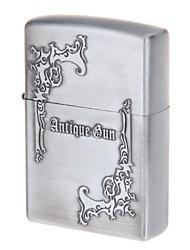 bolso antigo arma óleo liga de zinco de design mais leve (cinza prateado)