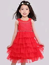 Performance Dancewears Kid's Fashion Sleeveless Pleated Dress