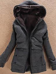 Fantasy Women's Long Sleeve Slim Fashion Hoodie Causual Thicken Coat