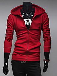 Ромео мужская сплошной цвет балахон с длинным рукавом пальто