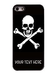 caja personalizada cráneo cruz caso del diseño del metal para el iphone 5 / 5s