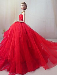Barbie Doll Holiday Dress My Love Is A Red Red Rose