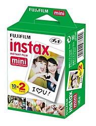 20 FUJIFILM instax mini pack-film Twin alb instantanee