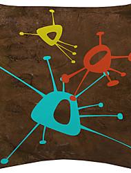 ensemble de 3 coloré virus motif velours taie d'oreiller décoratif