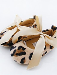 Mädchen-Flache Schuhe-Outddor / Kleid / Lässig-Vlies-Flacher Absatz-Rundeschuh-Mehrfarbig