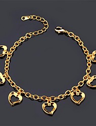 U7® Love Charm Braclet 18K Real Gold Platinum Plated Romantic Love Bracelet Fashion Jewelry