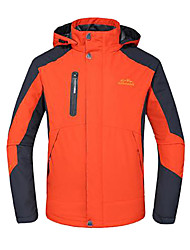 Men's Hiking Jacket Waterproof Windproof Insulated Breathable Winter Jacket Top for Skiing Camping / Hiking Climbing Skating Snowsports