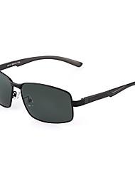 Óculos de Sol Homens's Clássico / Leve / Esportivo / Fashion / Polarized Retângular Preta / Cinzento Escuro Óculos de Sol / Condução-Rim