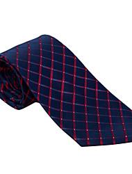 Бургундия&темно-синий клетчатый галстук