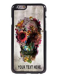 """cráneo personalizado caso y flor caso del diseño del metal para el iphone 6 (4,7 """")"""