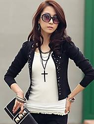 rivetti moda di Marcia delle donne del diamante di fit giacca sportiva