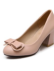 Women's Shoes Round Toe Chunky Heel Pumps with Bowknot Shoes More Colors available