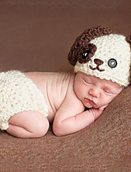 1 pcs baby's photography props newborn crochet outfits photo props kids Knit Crochet little dog  0-2 month
