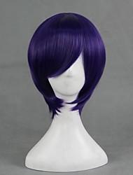 Cosplay Wigs Gintama Takasugi Shinsuke Purple Short Anime Cosplay Wigs 30 CM Heat Resistant Fiber Male