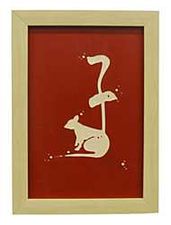 Manual Sculpture Chinese Traditional Culture Chinese Zodiac Rat Wood Framed Ready to Hang