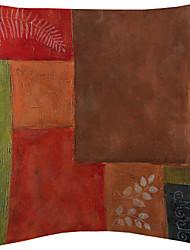 Set of 3 Colorful Blocks Velvet Decorative Pillow Cover