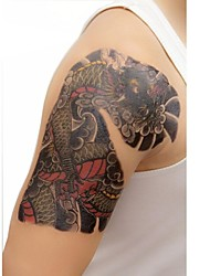 1 Pcs Waterproof  Color Picture Tengyun Of Dragon  Pattern  Tattoo Stickers
