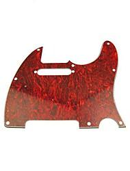 3ply Pickguard für Tele Style Gitarre, Schildpatt rot