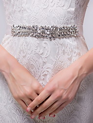 Chiffon / Alloy Wedding / Party/ Evening Sash-Rhinestone Women's 98 ½in(250cm) Rhinestone