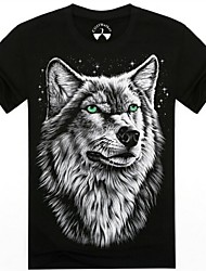 mannen o-hals zomer wolf dier 3d gedrukte korte mouw t-shirt