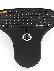 мини-2.4G беспроводная клавиатура и мышь комбо мыши воздуха с трекболом для коробки и ТВ Программа ТВ