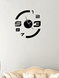 """21 """"h estilo moderno DIY espelho acrílico relógios de parede adesivo de superfície 3D para sala de estar quarto"""