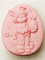 aves coelho ferramentas bolo fondant de chocolate em forma de silicone bolo molde decoração, l10cm * * w8cm h4cm