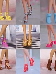 9 Pcs Barbie Doll Elegant Girl PVC Shoes For Summer